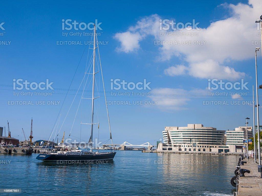Barcelona Waterfront Marina, Spain stock photo