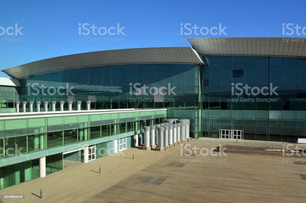 Barcelona–-El Prat Airport, Terminal 1, Catalonia, Spain stock photo