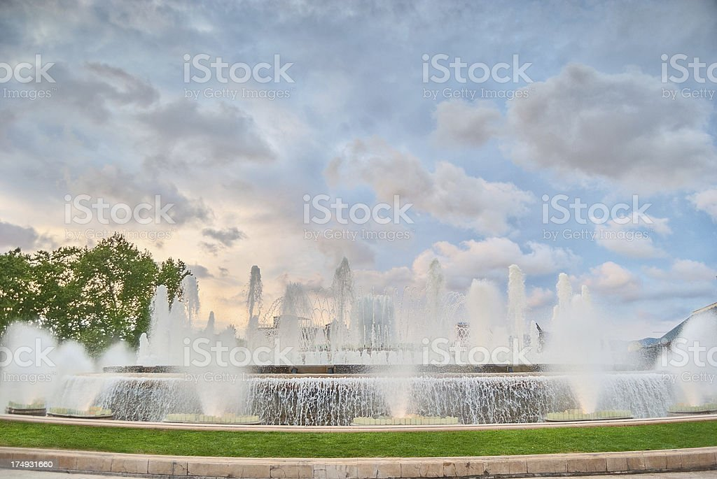 Barcelona's Magic Fountain stock photo