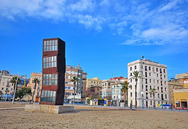 Playa de la Barceloneta, Barcelona - foto de stock