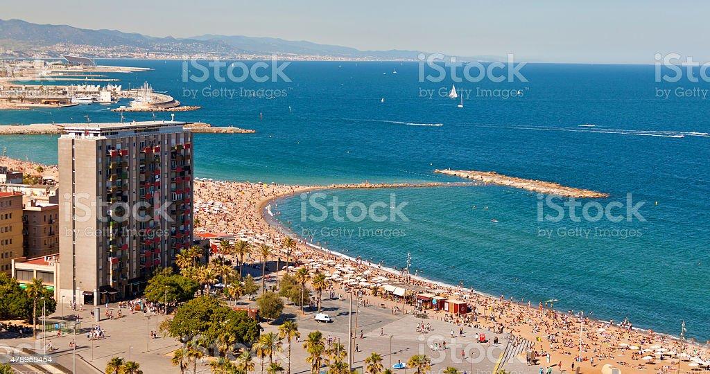 Barceloneta beach stock photo