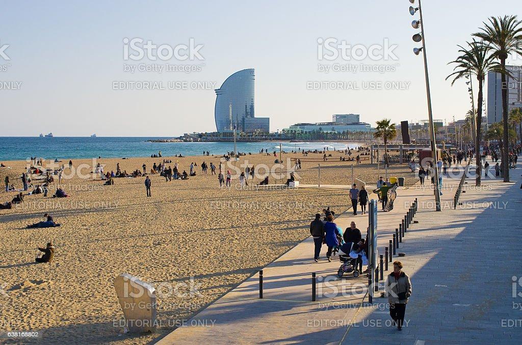 Playa de la Barceloneta - foto de stock