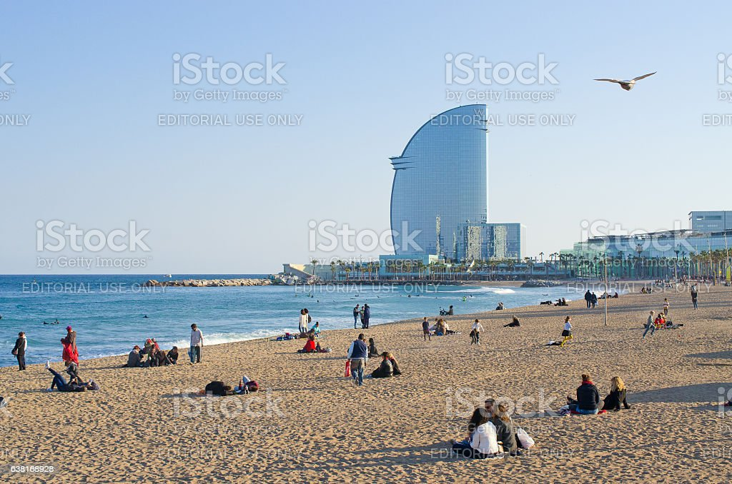 Barceloneta Beach stock photo