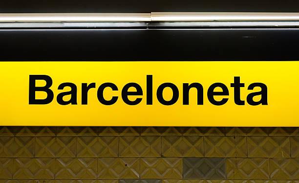 Señal de la Barceloneta - foto de stock