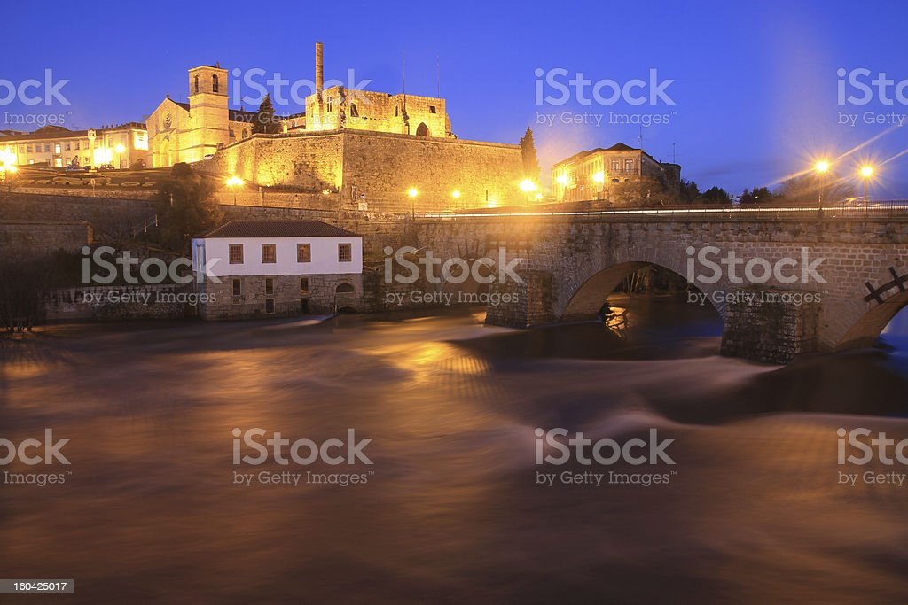 Barcelos at night, Portugal stock photo