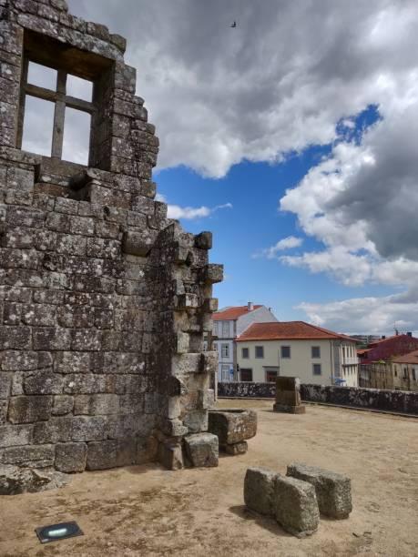Barcelos Castle historical ruins. stock photo
