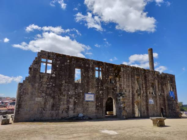 Barcelos Castle. stock photo