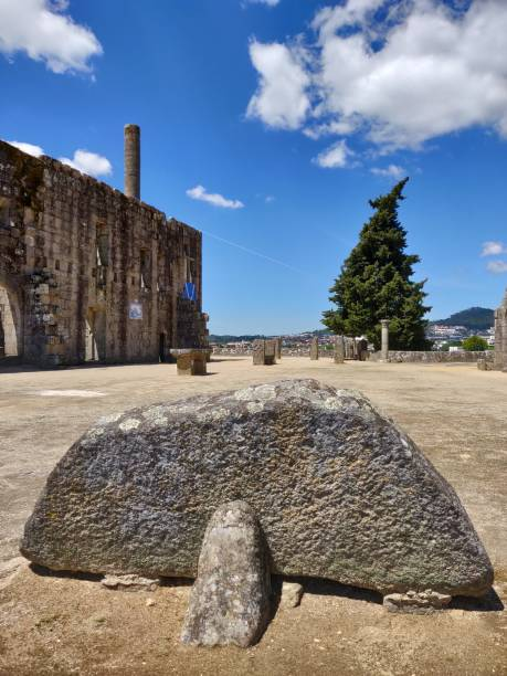 Barcelos Castle ruins. stock photo