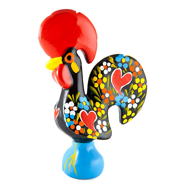 Barcelos Rooster. Portugal Traditional Ceramic Rooster from Barcelos, Portugal cockerel stock pictures, royalty-free photos & images