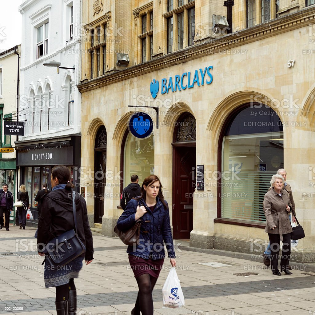Barclays Bank branch in Norwich stock photo
