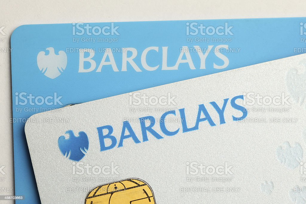 Barclays bank credit cards stock photo more pictures of banking barclays bank credit cards royalty free stock photo reheart Images