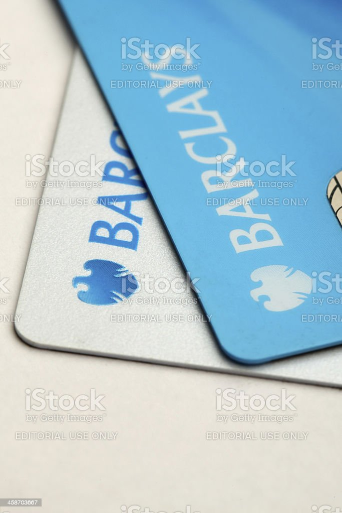 Barclays bank credit cards stock photo