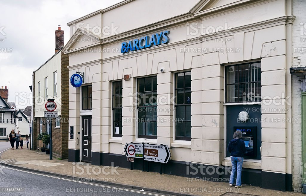 Barclays Bank, Eye, Suffolk stock photo