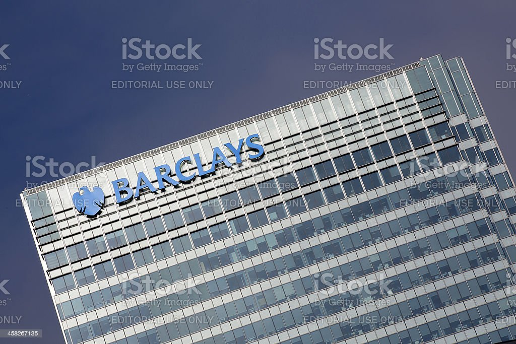Barclays Bank Headquarters London royalty-free stock photo