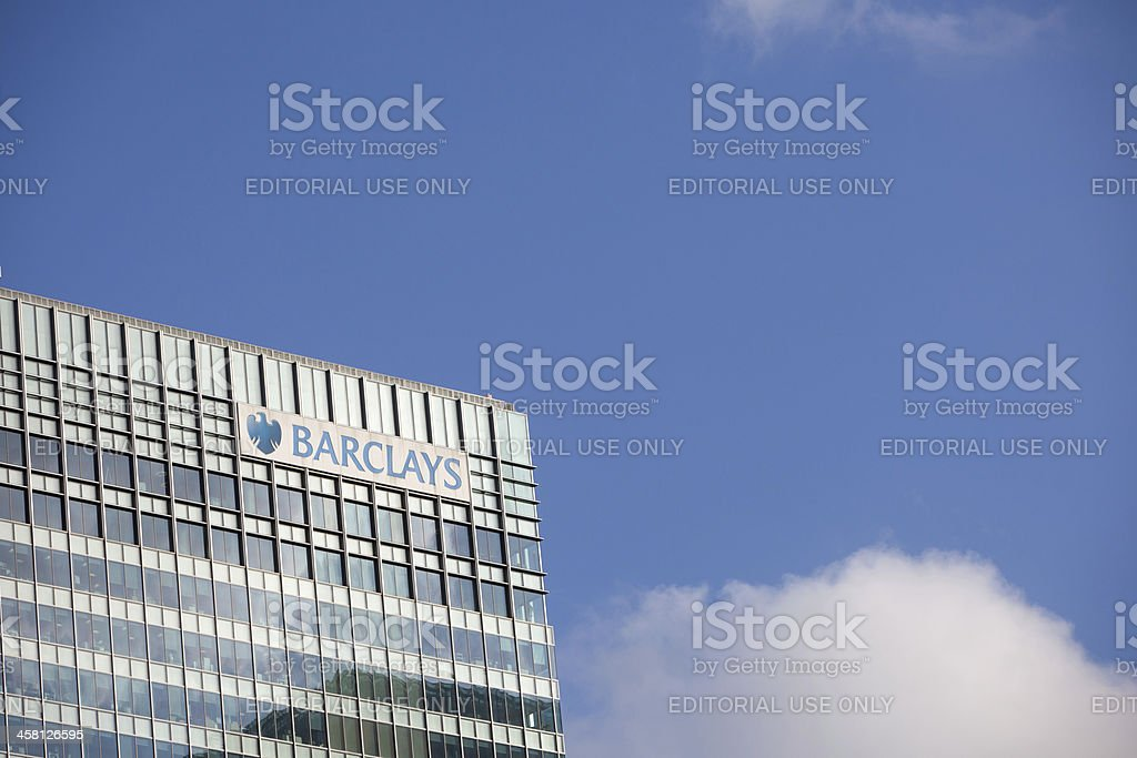 Barclays Bank in Canary Wharf, London stock photo