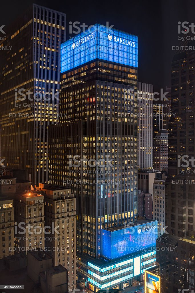Barclays Bank in Manhattan New York stock photo