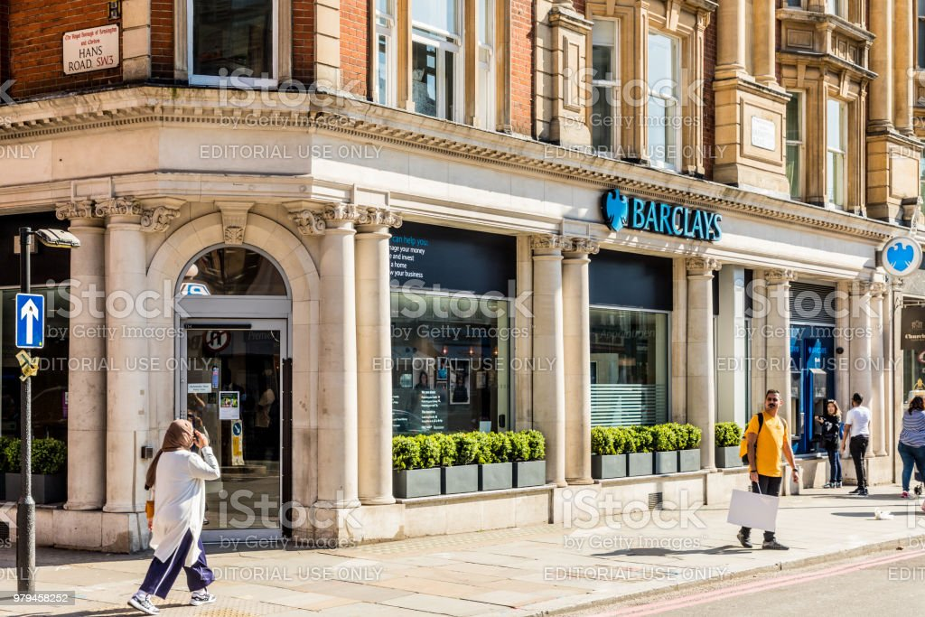 Barclays Bank knightsbridge stock photo