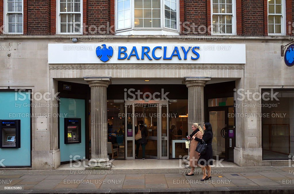 Barclays Bank - Richmond,London stock photo