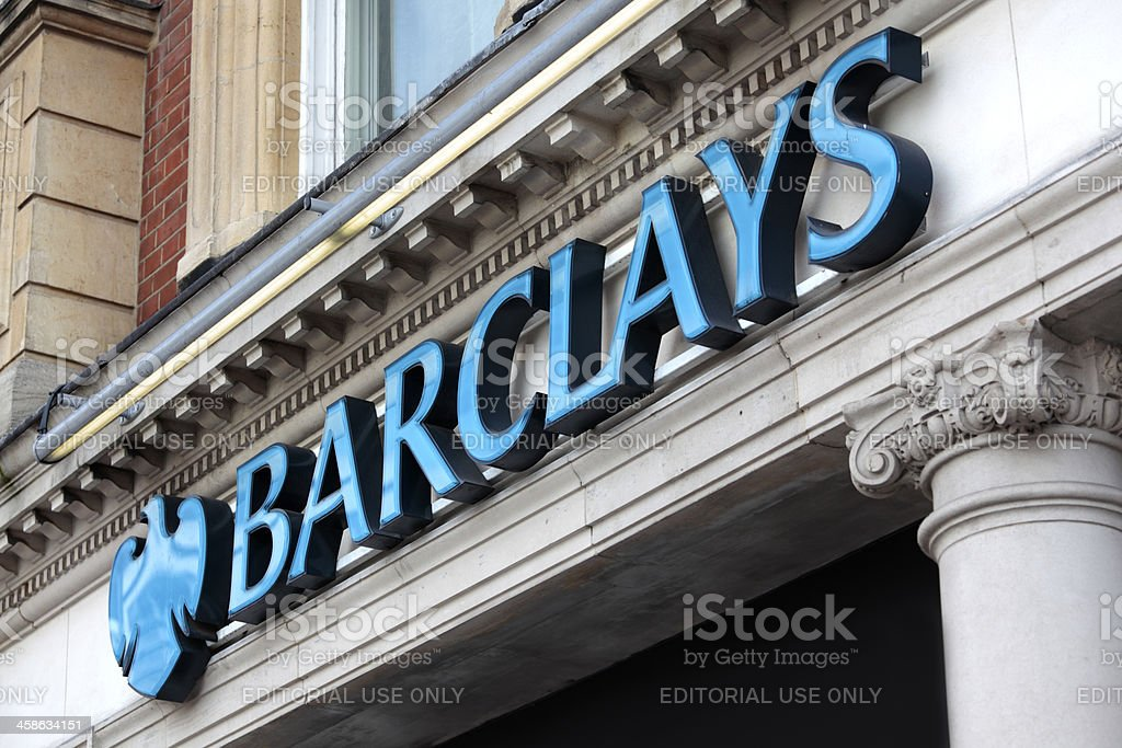 Barclays Bank sign London stock photo