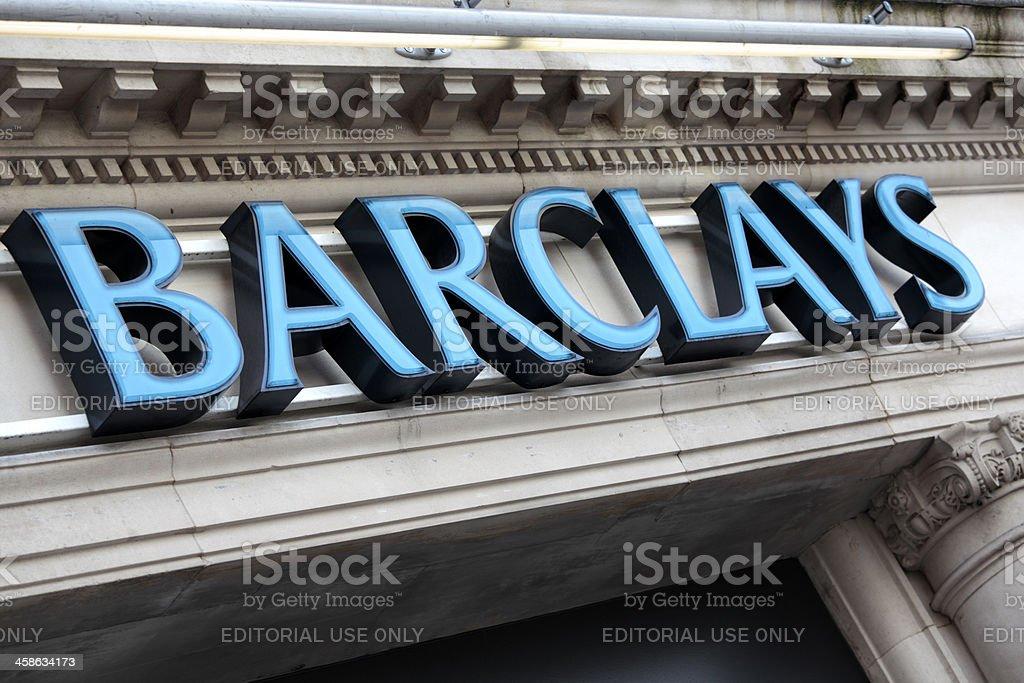 Barclays Bank sign London royalty-free stock photo