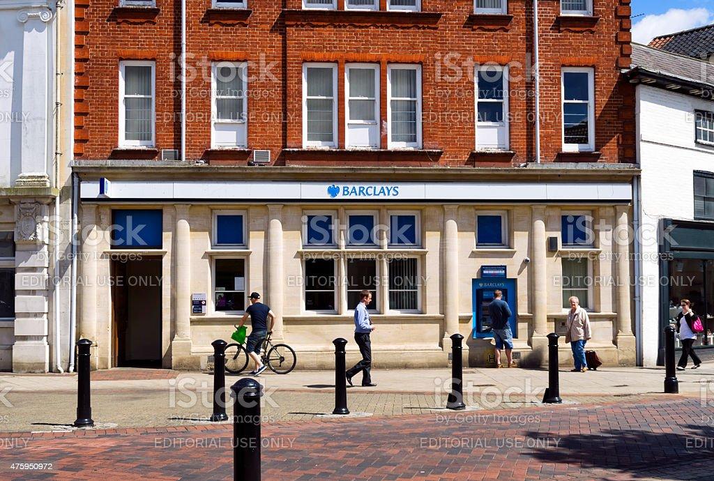Barclays Bank, Stowmarket stock photo