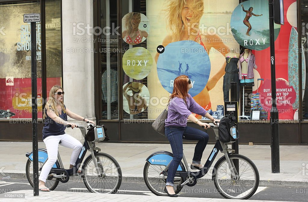 Barclays Bicycle Scheme stock photo