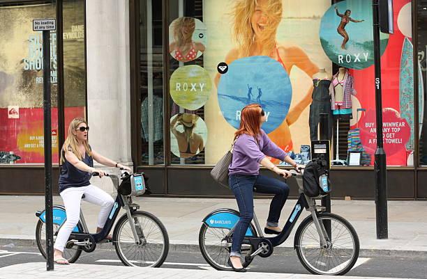 Barclays Bicycle Scheme stock photo