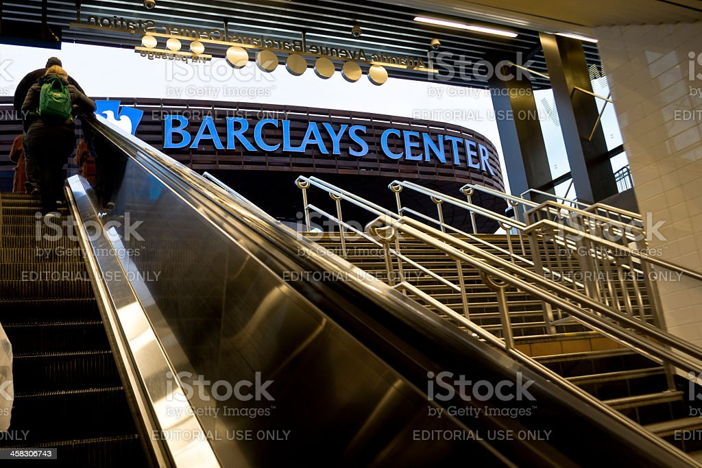 Barclays Center Arena at Atlantic Avenue, Brooklyn, New York stock photo