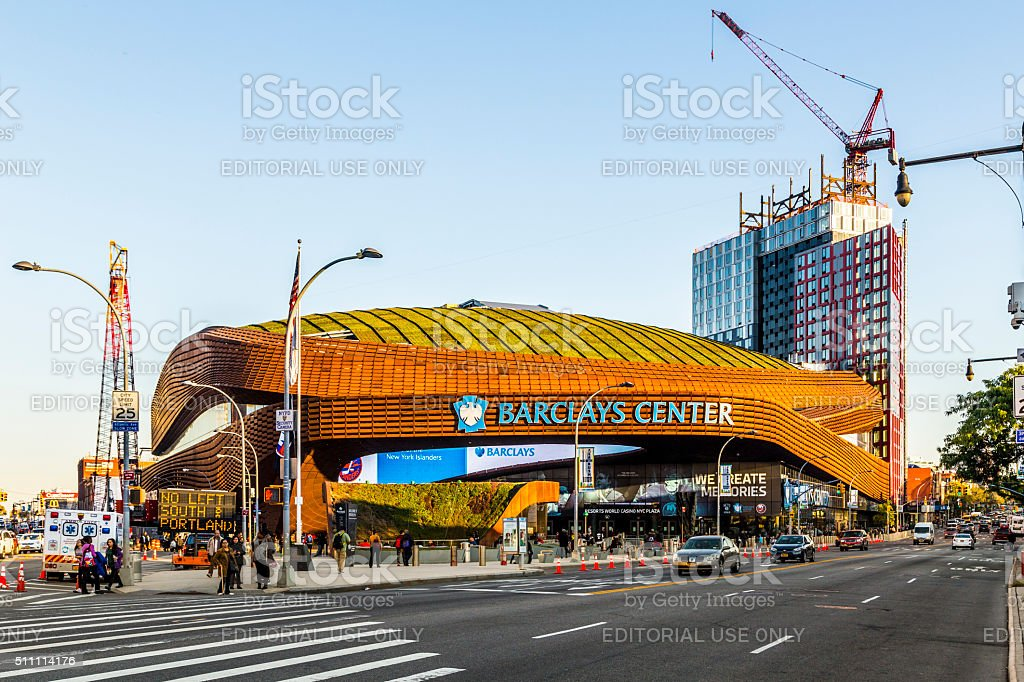 Barclays Center is a multi-purpose indoor arena in Brooklyn stock photo