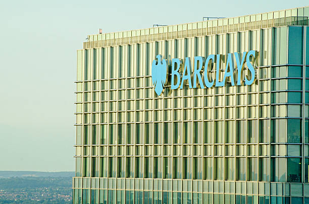 Barclays tower, Canary Wharf stock photo