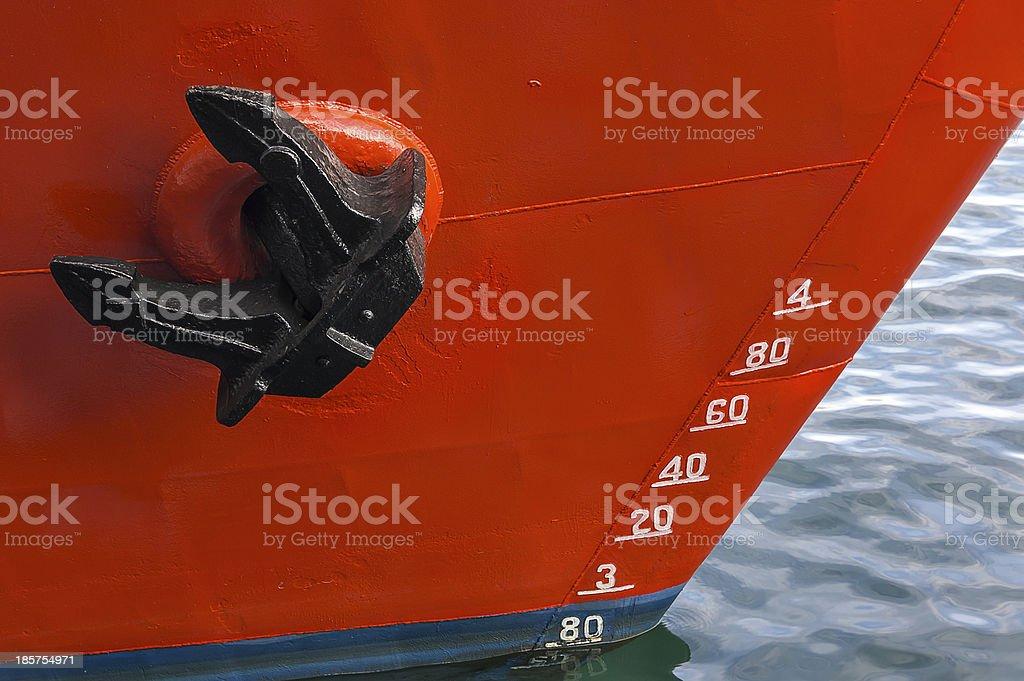 Barco ancla flotación stock photo