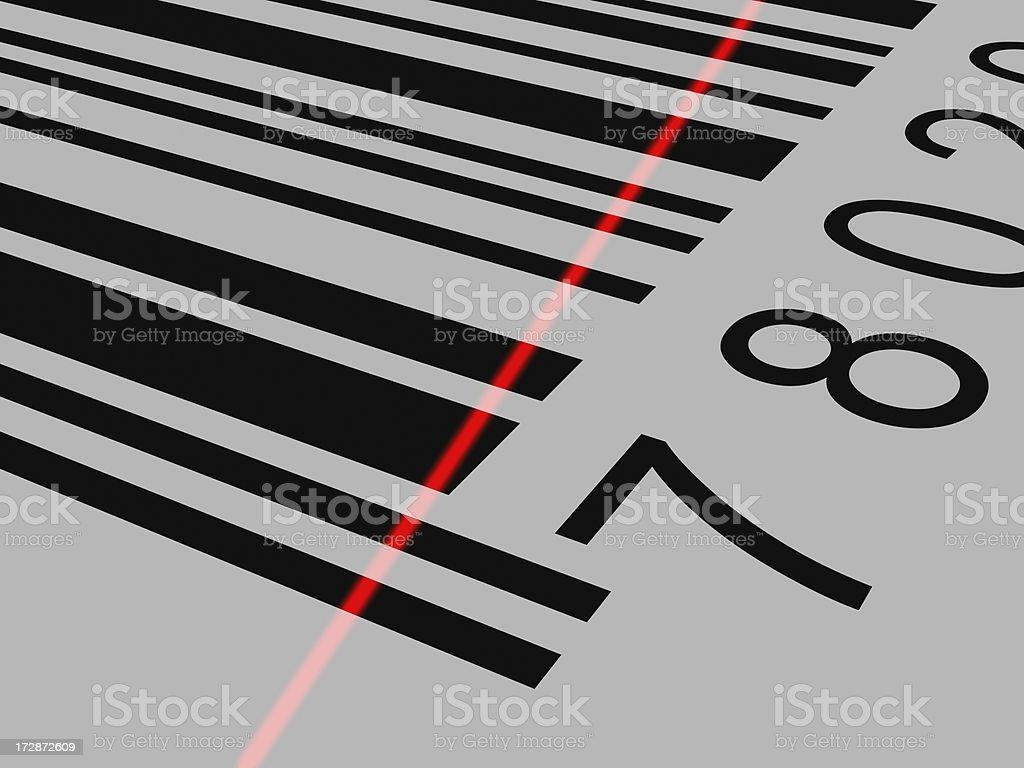 Barcode Close Up royalty-free stock photo
