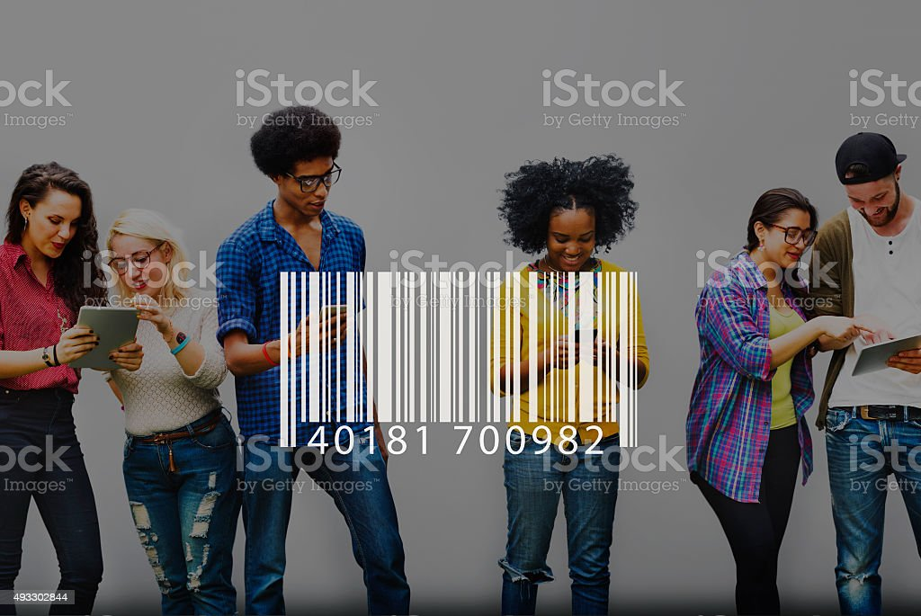 Barcode Identification Label Encryption Tag Concept stock photo