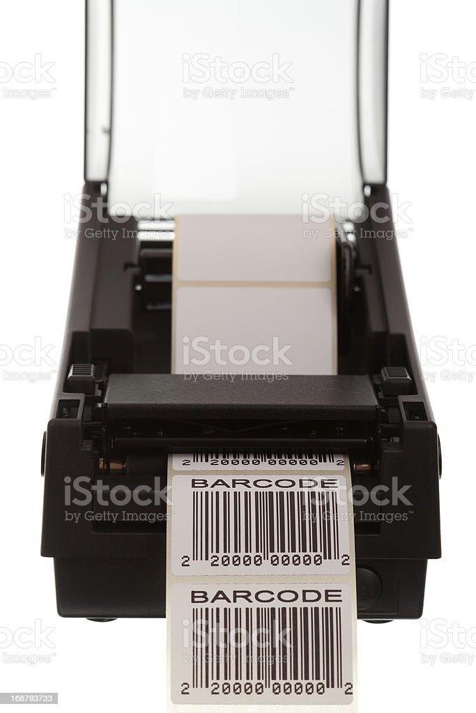 Barcode label printer stock photo