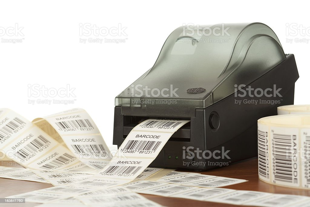 Barcode label printer royalty-free stock photo