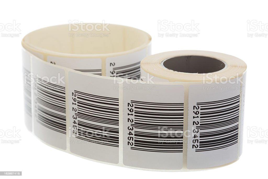 Barcode label ribbon royalty-free stock photo