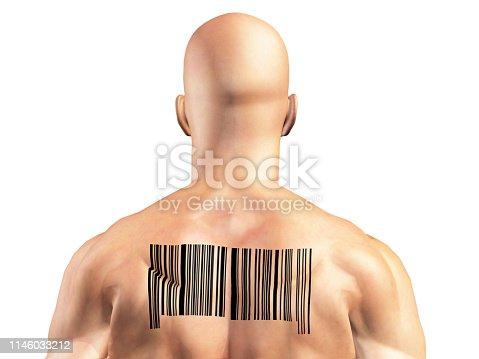 92884259 istock photo Barcode Man 1146033212