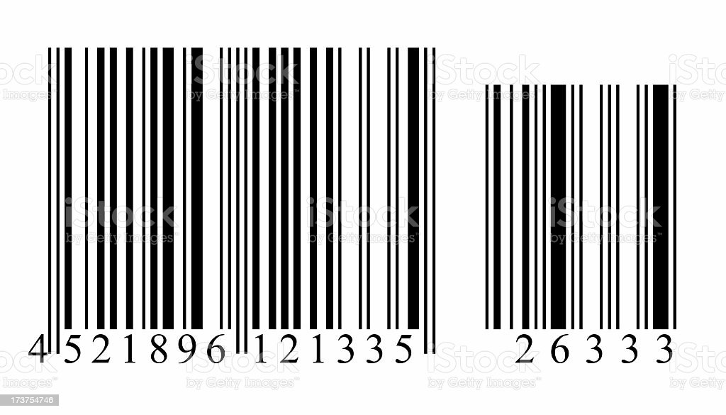 Barcode - numbered2 stock photo