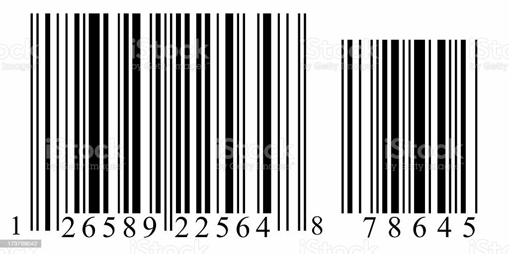 Barcode - numbered4 royalty-free stock photo
