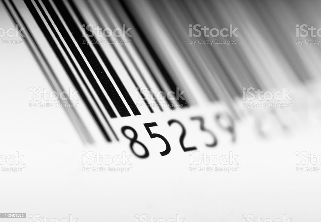 Barcode on packaging royalty-free stock photo