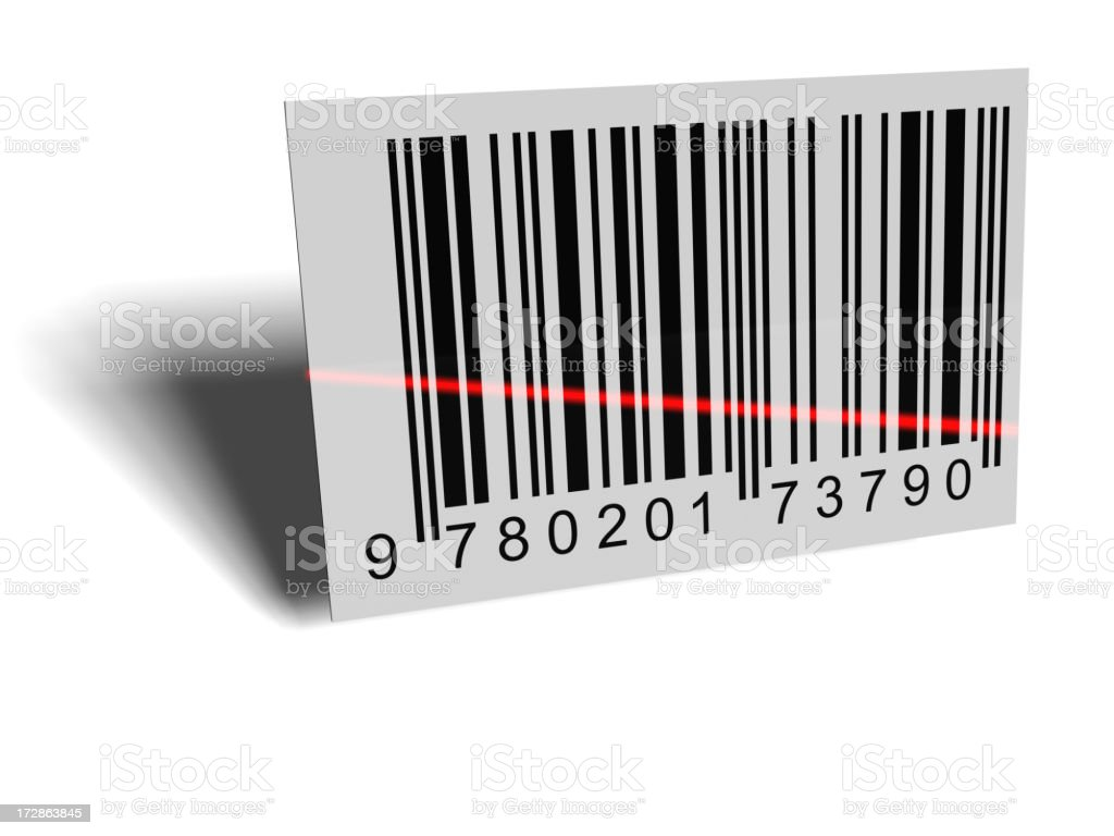 Barcode On White royalty-free stock photo