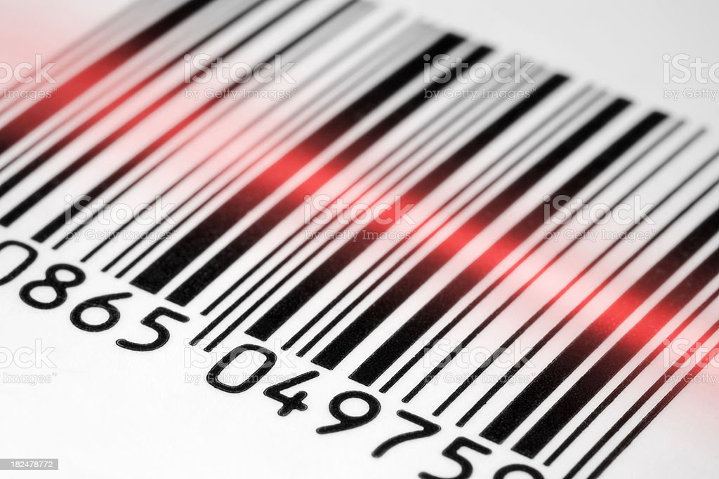 Barcode scan royalty-free stock photo