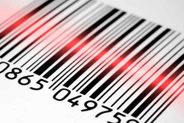 Barcode scan stock photo
