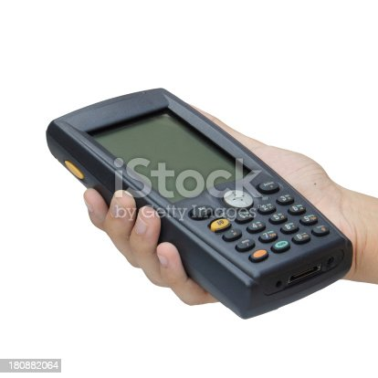 92884259 istock photo Barcode scanner operated on PocketPC 180882064