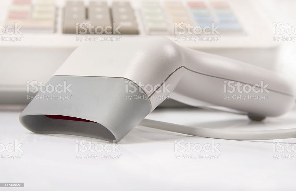 Barcode scanner royalty-free stock photo