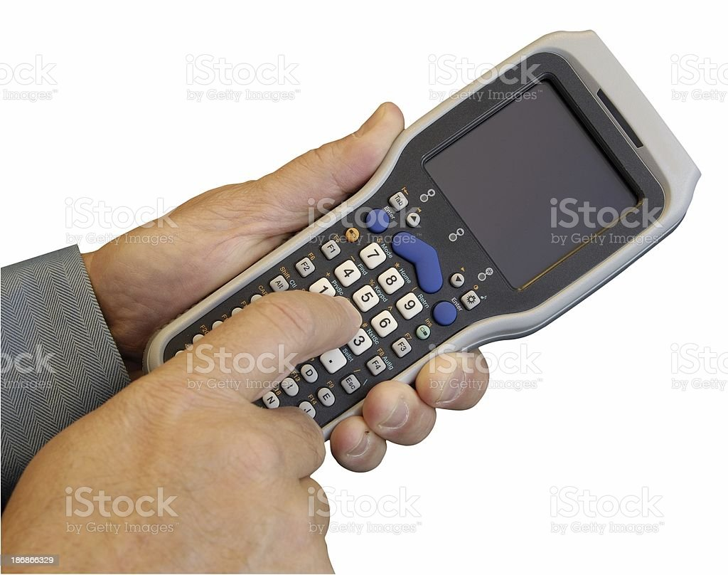 Barcode Scanner (Isolated) royalty-free stock photo