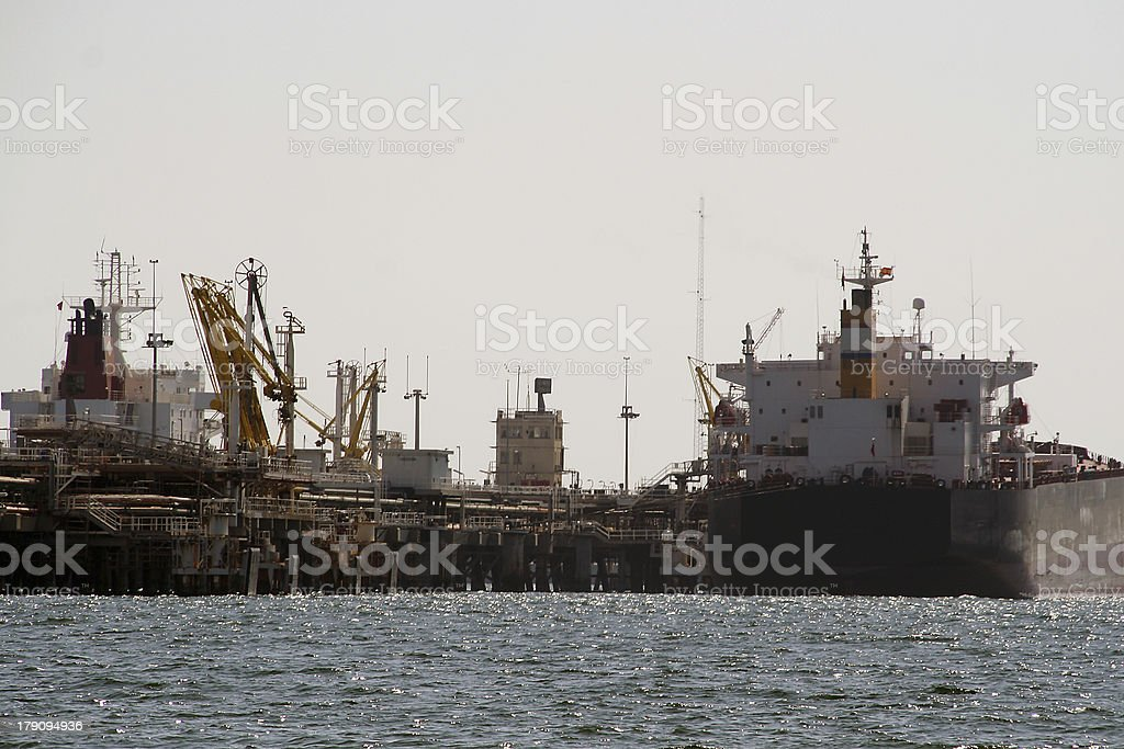 Barcos en puerto royalty-free stock photo