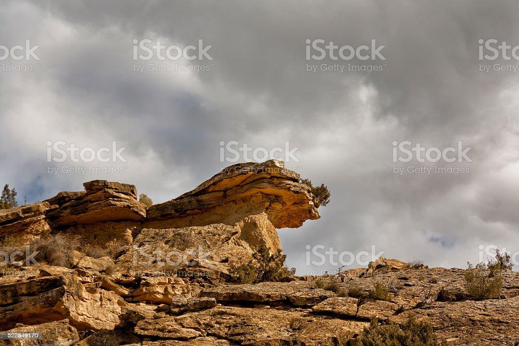 Bardenas Reales parque natural de Navarra - foto de stock