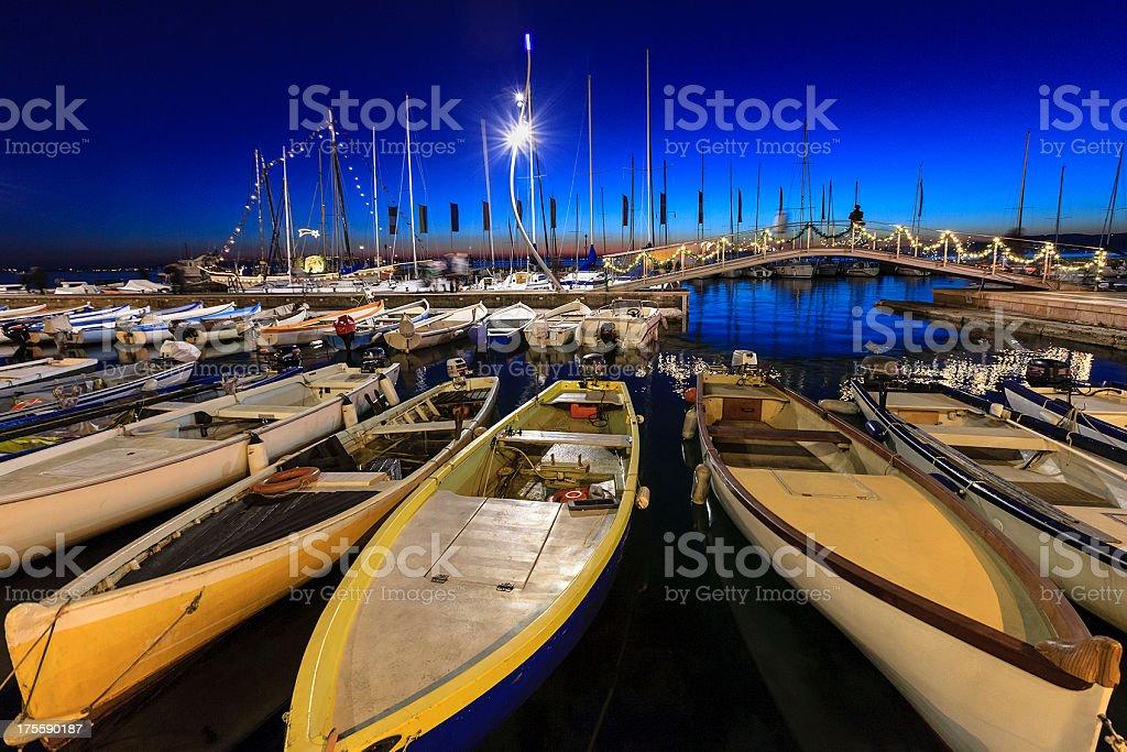 Bardolino Harbor, Italy stock photo