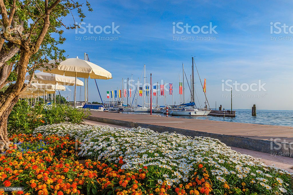 Bardolino Lakeside, Lake Garda stock photo